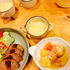 いつぞやの晩御飯(≧∇≦) - 14件のもぐもぐ - ミートローフ、マスタード煮、コーンスープ。 by megu111