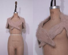 1950s nude angora shawl / Vintage 50s knit fuzzy by Ainshent, $45.00