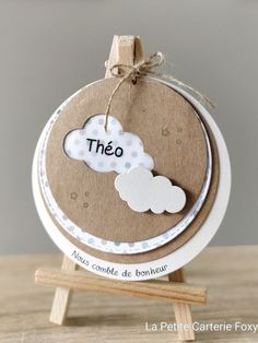 Annonce de naissance de nuage rond Kraft - #Annonce #Kraft #naissance #nuage #rond First Pregnancy, Yoga Pregnancy, Baby Album, Baby Scrapbook, Baby Kind, New Baby Gifts, Baby Cards, Birthday Invitations, Christening Invitations