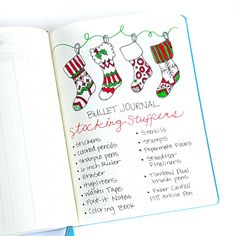 Ideas for holiday planning in your bullet journal. Ideas for holiday planning in your bullet journal. Bullet Journal Christmas, December Bullet Journal, Bullet Journal Ideas Pages, Bullet Journal Spread, Bullet Journal Layout, My Journal, Bullet Journal Inspiration, Journal Pages, Bullet Journal Gift List