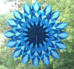 Blue WaldorfInspired Sunburst Suncatcher with by harvestmoonbyhand, $19.00