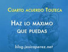 Hola en este articulo te presento el ultimo acuerdo tolteca de Miguel Ruiz: HAZ SIEMPRE LO MAXIMO QUE PUEDAS ¡ da lo mejor de ti y no te sientas culpable por no haberlo hecho. ¡ Checalo aqui¡