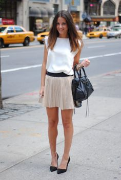 Leather Skirt: Zara, Shoes: Zara, Bag: Balenciaga, Top: The Wardrobe, Jewelry: Friis & Company