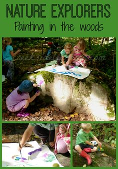 Learning with kids in a natural environment. How to gather a group to explore and learn together.
