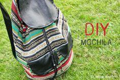 DIY Cómo hacer un bolso Mochila tipo étnico. Blog de costura y blog diy. Using google translate to figure out how to make this bag