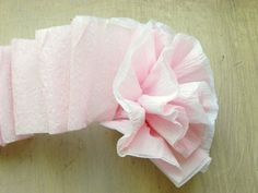 We are in love with paper flowers of any sort. These crepe paper flowers are so perfectly lovely. They are so versatile and can be used in s. Streamer Flowers, Paper Flower Garlands, Tissue Paper Flowers, Diy Flowers, Fabric Flowers, Flower Paper, Crepe Paper Decorations, Crepe Paper Crafts, Crepe Paper Streamers