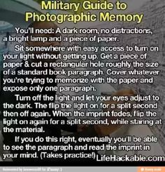 How to develop photographic memory