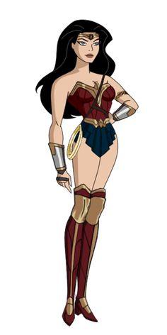 JLU Wonder Woman Dawn of Justice by Alexbadass.deviantart.com on @DeviantArt