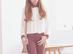 Classy girly kfashion look~ Korean fashion