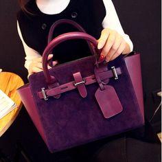 USD17.49Cheap Fashion Zipper Design Solid Purple Nubuck Clutches Bag