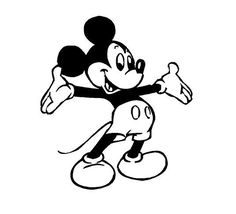Mickey Mouse decal Disney decal car decal by CustomVinylDecals4U