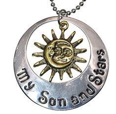 Game of Thrones Moon of My Life My Sun and Stars Khal And Khaleesi His or Hers Pendant 20 Inch Necklace 845 by Kix Jewels -- Awesome products selected by Anna Churchill