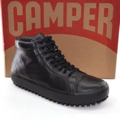 huge discount 646b2 c981f CAMPER Portol Goretex K300045 Men 45   11 Zip Ankle BOOTS Black SHOES New  in Box