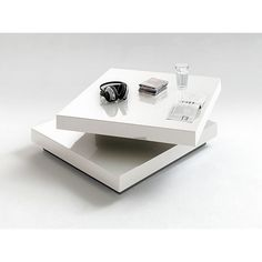 Couchtisch Tisch MELANIE Wohnzimmertisch Sofatisch Hochglanz Eiche