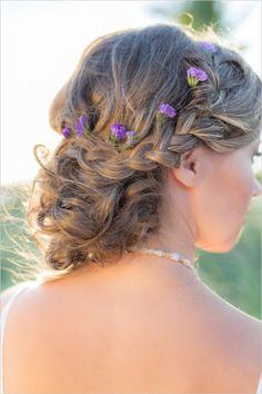 Beach wedding hair ideas with braid. #beachybride #weddinghair #weddingchicks Hair Styled By: Studio Marie Pierre http://www.weddingchicks.com/2014/06/16/boho-chic-beach-wedding/