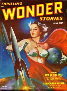EARLE K. BERGEY - art for Temporary Keeper by H.B. Fyfe - June 1951 Thrilling Wonder Stories