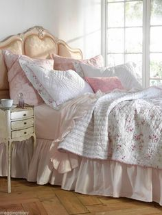 Rachel Ashwell Ruffled Twin Sheet Set ONLY Soft Shabby Pink Simply Shabby Chic #RACHELASHWELL #SHABBYCOTTAGECHIC... Rachel Ashwell Compare at Retail for $256.00 SAVE and Click photo and then click photo again to take you to purchase site..