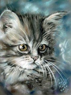 Saved by monkeetree.com  kitten portrait art by astarvinartist on deviantArt.com…