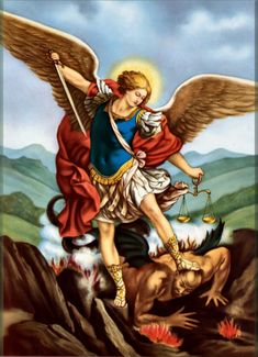 Shop St Michael Archangel Poster San Miguel Arcangel created by Catoliquisimo. Personalize it with photos & text or purchase as is! St Michael Prayer, Saint Michael, St Micheal, Chaplet Of St Michael, Pope Leo Xiii, Catholic Prayers, Catholic Bible, Catholic Gifts, Roman Catholic