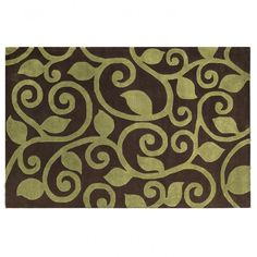 The Rug Market Maison Fogli Brown / Green Contemporary Rug - 44008