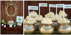 St. Patrick's Day dessert table by @dolce drive