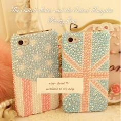 The Waving Flag Flatback Scrapbooking / DIY Phone Case Deco Den Kit  & Free Phone Case