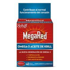 MegaRed Omega 3 es un complemento alimenticio que contiene 100% aceite puro de Krill. MegaRed Omega 3 contiene los ácidos grasos Omega 3 DHA y EPA que contribuyen y ayudan al correcto funcionamiento del corazón.