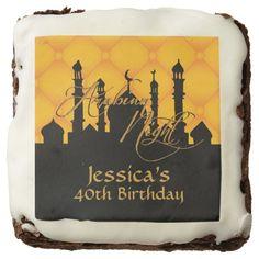 Arabian Night, 40th Birthday, Custom Brownies