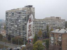 Stunning Slavic Mural Was Painted in Ukrainian Capital Kiev by Guido Van Helten