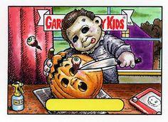 Garbage Pail Kid's Version Of Michael Myers