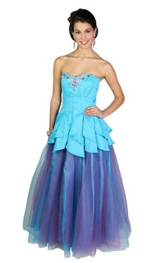 strapless beaded two tone prom dress with tulip skirt  Possible Prom Dress!!!!