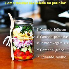 Como fazer a Salada no Potinho, ou Mason Jar Salad