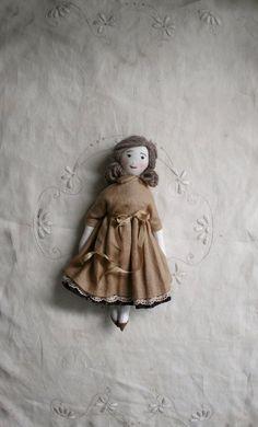Image of Heirloom doll // blue eyes Toy Cupboard, Handmade Dolls, Cute Crafts, Fabric Dolls, Creative Gifts, Beautiful Dolls, Blue Eyes, Art Dolls, Fairies
