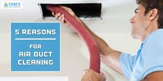 These are the top 5 reasons for Air Duct Cleaning which extremely important to clean your air ducts. Keep your family healthy and safe by using these tips. Clean Air Ducts, Your Family, Healthy, Tips, Advice, Health