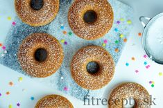 Donuts Vegan, Healthy Donuts, Healthy Desserts, Healthy Recipes, Beignets, Donut Form, Low Cholesterol Diet, Oat Flour, Sweet Breakfast