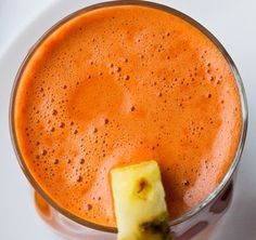 pineapple carrot celery ginger + cayenne // juice fast