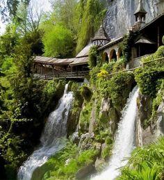 Monastery at the St. Beatus Caves, Switzerland.