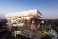 With the contract to design and build the museum in Perth officially awarded to contractor Brookfield Multiplex, HASSELL + OMA have revealed the. Oma Architecture, Australian Architecture, Infrastructure Architecture, University Architecture, Architecture Wallpaper, Building Costs, Building Design, Building Structure, Australia Occidental