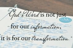 God's Word is not just for our information, it is for our transformation. How To {SOAP} Your Quiet Time - Good Morning Girls