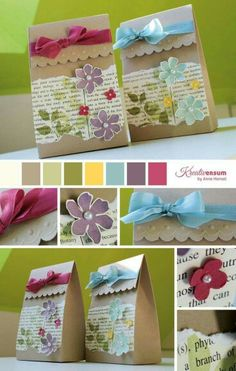 Geschenkverpackung Summer Silhouettes, Stampin' Up! Creative Gift Wrapping, Creative Gifts, Pretty Packaging, Gift Packaging, Craft Bags, Craft Gifts, Decorated Gift Bags, Paper Gifts, Paper Bags