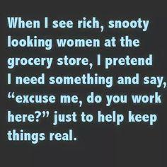 Seeing rich, snooty women at the grocery | Mumbo Jumbo Gumbo