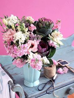 DIY the perfect flower arrangements for a wedding or a tablescape using these classic ideas as inspiration. These mixed-flower bouquets are simple to make for home decor, plus they will be unique compared to flower arrangements you can buy from the store. #diy #wedding #flowers #flowerarrangement