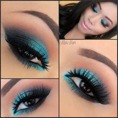 Close up from previous post. Gorgeous blue from Urban Decay's Vice Palette UNHINGED - @Miss Mae- #webstagram