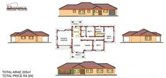 To Be Build at Ngwaabe (Limpopo) Round House Plans, Free House Plans, House Layout Plans, House Layouts, 5 Bedroom House Plans, Family House Plans, Country Style House Plans, Craftsman Style House Plans, House Plans South Africa