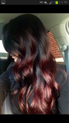 Black to red ombre