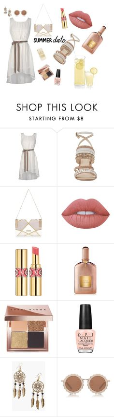 """""""Summer date"""" by hillaryranjbar ❤ liked on Polyvore featuring Nine West, River Island, Lime Crime, Yves Saint Laurent, Tom Ford, Bobbi Brown Cosmetics, OPI, Boohoo, House of Holland and Sonix"""