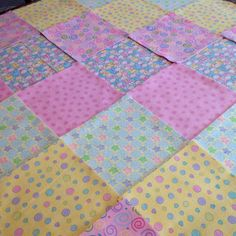 Baby Rag quilt kit 75 squares, 3 layers of flannel 8  each, pre ... : pre cut flannel rag quilt kits - Adamdwight.com