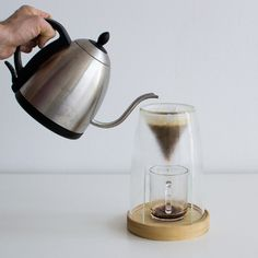 MANUAL coffee maker by designer Craighton Berman is designed to be left out on a counter for fast access, less set up, and a clean, simple aesthetic