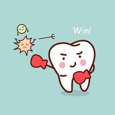 Cartoon Fish, Cute Cartoon, Teeth Clip, Tooth Box, Cute Tooth, Tooth Chart, Charts For Kids, Cavities, Dental Care