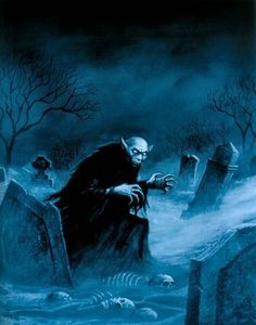 Enter the realm of gothic fantasy artist Joseph Vargo, a chilling, mist-shrouded world of forlorn ghosts, brooding vampires, living gargoyles and other creatures of the night. Arte Horror, Gothic Horror, Horror Art, Halloween Horror, Halloween Art, Spirit Halloween, Vintage Halloween, Dark Fantasy Art, Dark Art